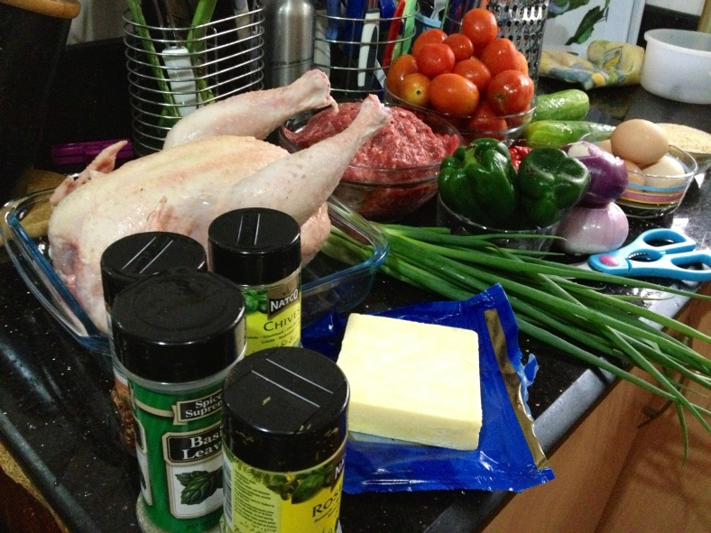 Ingredients set out