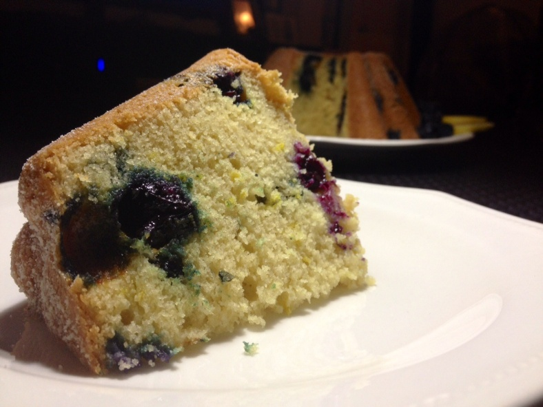 Blueberry and lemon cake slice preferred