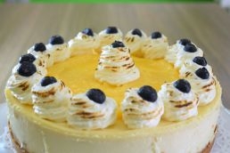 Close up top view Lemon Cheese Cake