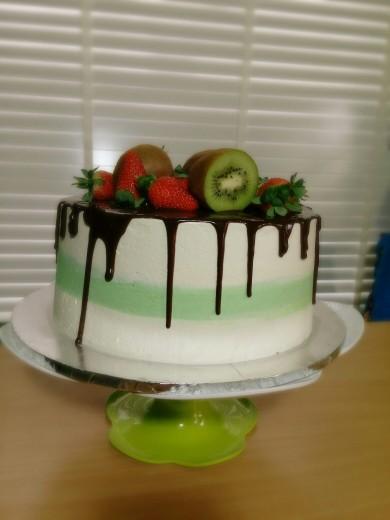 horizontal stripe cake 2