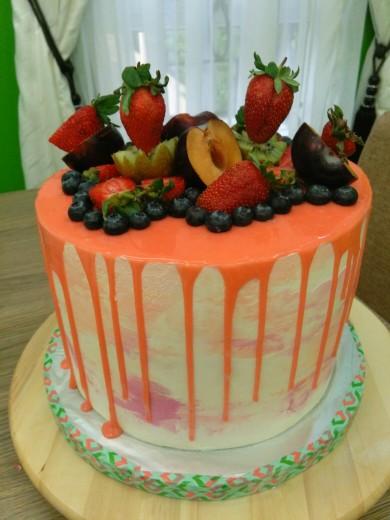 orange drip cake 2