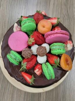 top view macaron cake